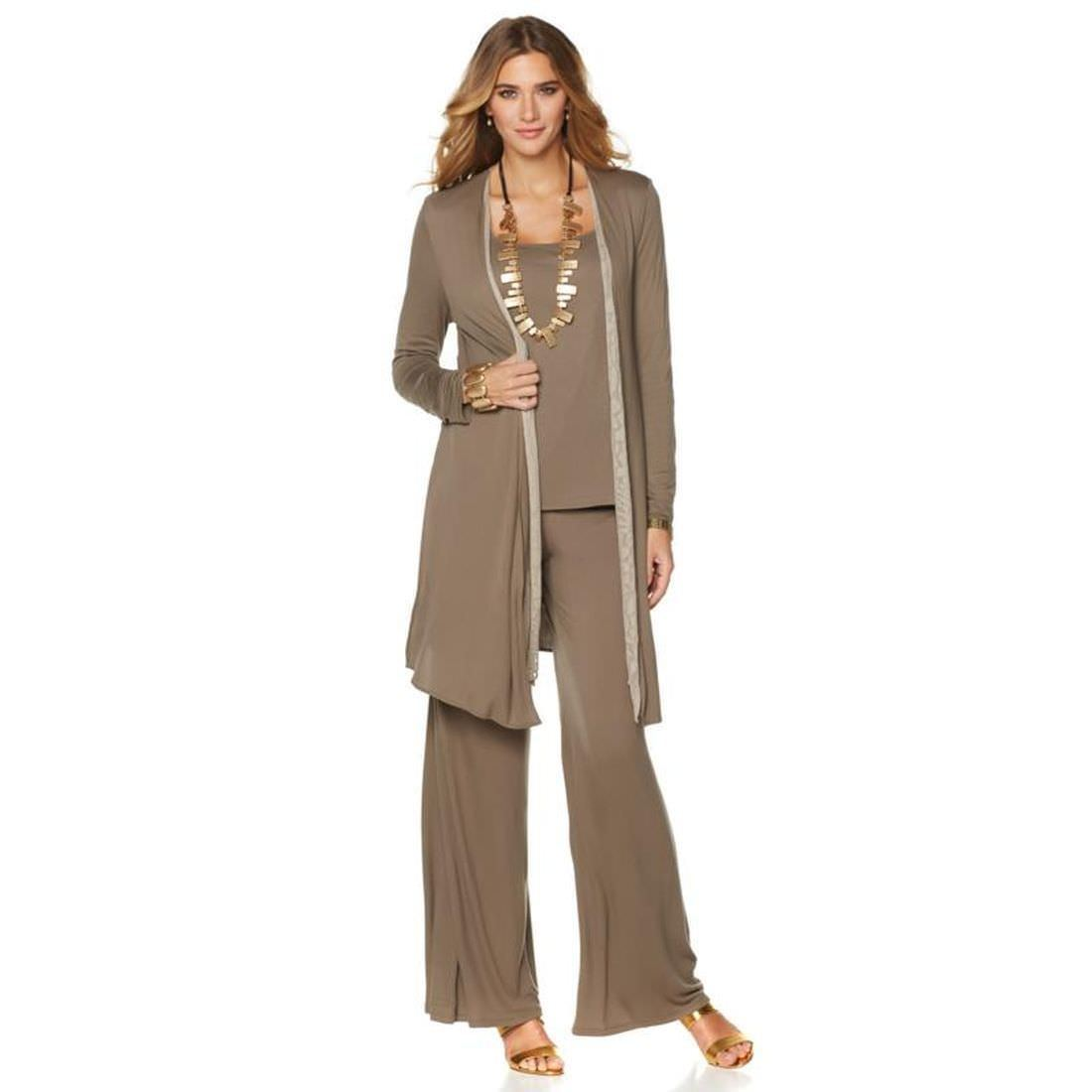 d2419eb540 MARLAWYNNE Size S Reversible Burnout Cardigan Duster LATTE   OLIVE GRAY –  NYC Moda Boutique