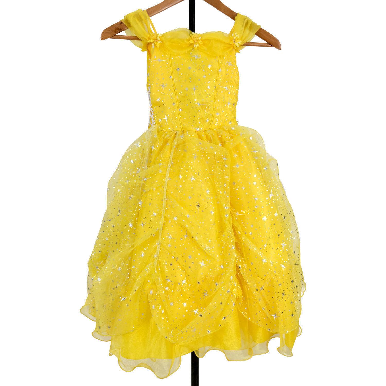 Flower Girl Princess Birthday Party Christmas Dress Yellow Size 4