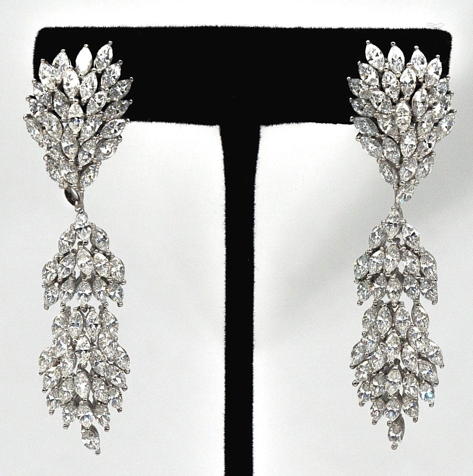 21428d1b6 Wedding Bridal Chandelier Earrings Silver White Gold Plated CZ – NYC ...