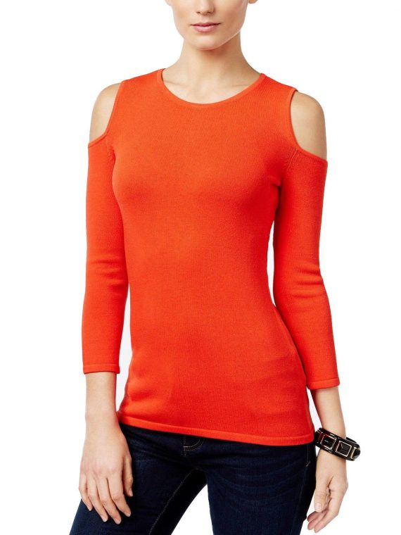 INC-International-Concepts-Womens-Cold-Shoulder-Sweater-ELECTRIC-RED-M-223039204539