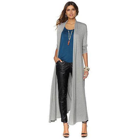87fd27a28a NENE Lightweight Glam Long Sleeve Women Maxi Cardigan OLIVE Size X-Large XL  – NYC Moda Boutique